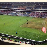 Photo taken at Orlando Stadium by Thapelo C. on 1/18/2014