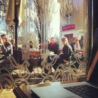 Photo taken at Le Petit Café by Swizec T. on 3/19/2013