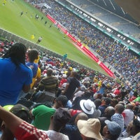 Photo taken at Orlando Stadium by Thabo M. on 5/7/2017