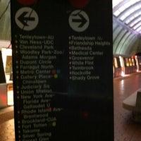 Photo taken at Tenleytown-AU Metro Station by Juan on 10/5/2012