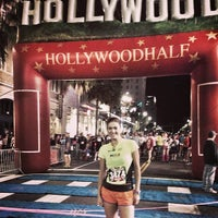 Photo taken at Hollywood Half Marathon & 5k / 10k by Dani S. on 4/5/2014