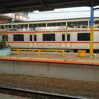 Photo taken at Stasiun Depok Baru by Ekek on 10/25/2012