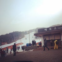Photo taken at Kensington Resort Cheongpyeong by Mameaw'sri K. on 2/16/2014