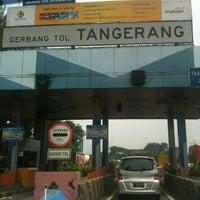 Photo taken at Gerbang Tol Tangerang by Ades on 8/31/2013