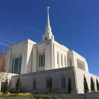 Photo taken at Ogden Utah Temple by Ty P. on 4/12/2015
