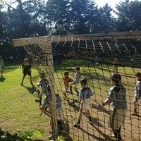 Photo taken at Pumitas C.U., Futbol A.C. by Dulce S. on 10/6/2012