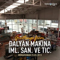 Photo taken at Dalyan Makina by Erkan D. on 3/23/2013