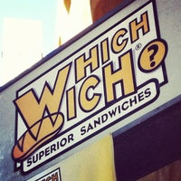 Photo taken at Which Wich? Superior Sandwiches by Gabe🌮 on 11/3/2012