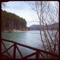 Photo taken at Lago di Suviana by Andrea S. on 4/13/2013