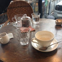 Photo taken at La cour cafe by Tamami T. on 6/25/2014