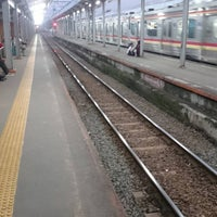 Photo taken at Stasiun Citayam by Evik D. on 5/17/2017