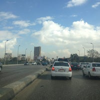 Photo taken at 6th October Bridge by Amr on 1/5/2013