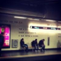 Photo taken at Metro Saldanha [AM,VM] by Ricardo G. on 11/21/2012