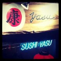 Photo taken at Sushi Yasu by Craig T. on 11/23/2012