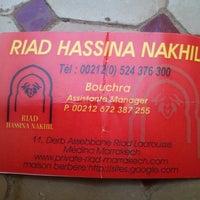 Photo taken at Riad Hassina Nakhil by Olga P. on 4/22/2013