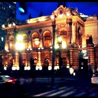 Photo taken at Theatro Municipal de São Paulo by Aline P. on 12/11/2012