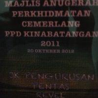 Photo taken at PPD Kinabatangan by Riberl on 10/20/2012