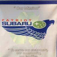 Photo taken at Patriot Subaru by Bill B. on 5/3/2013