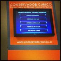 Photo taken at Conservador de Bienes y Raices Curico by Ronald S. on 12/11/2013