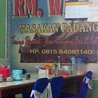 Photo taken at RM.Widya (Masakan Padang) by amos v. on 8/14/2013