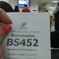 Photo taken at Registro Civil by Sara A. on 1/18/2013