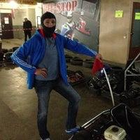"Photo taken at Картинг клуб ""Бешенные тачки"" by Евгений on 5/15/2013"