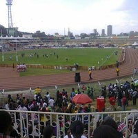 Photo taken at The Nyayo National Stadium by Licio L. on 9/23/2012