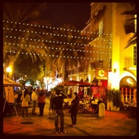 Photo taken at Espanola Way Village by Tarek on 12/1/2012