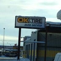Photo taken at OK Tire by Marlene on 12/28/2012
