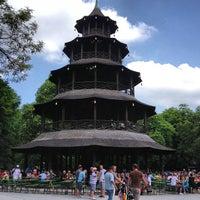 Photo taken at Biergarten am Chinesischen Turm by Pavlo V. on 6/9/2013