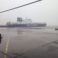 Photo taken at DFDS Seaways terminal by Olivier C. on 2/18/2014