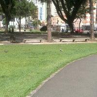 Photo taken at Praça Oswaldo Cruz by Carlos G. on 12/28/2012
