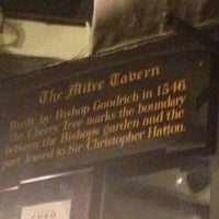 Photo taken at Ye Olde Mitre Tavern by Nick E. on 11/15/2012