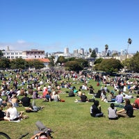Photo taken at Mission Dolores Park by Nick C. on 6/8/2013