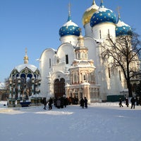 Photo taken at The Holy Trinity-St. Sergius Lavra by Olga on 1/13/2013