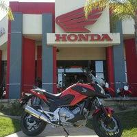 Photo taken at Huntington Beach Honda Motorcycles by Huntington H. on 4/18/2013
