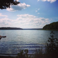 Photo taken at Großer Stechlinsee by Jonas R. on 7/18/2013