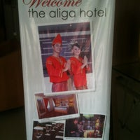 Photo taken at The Aliga Hotel by Kang UDe M. on 12/4/2013