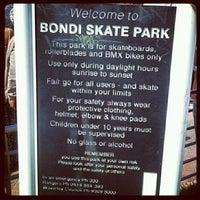 Photo taken at Bondi Skatepark by Camille D. on 11/18/2012