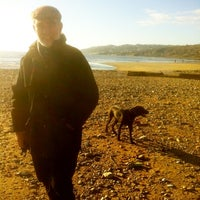 Photo taken at Charmouth Beach by Phil T. on 12/1/2012