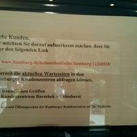 Photo taken at Kundenzentrum Barmbek-Uhlenhorst by Florian on 10/10/2013