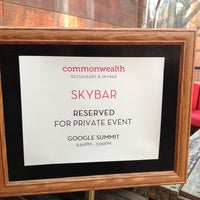 Photo taken at Commonwealth Restaurant & Skybar by Molly S. on 3/16/2013
