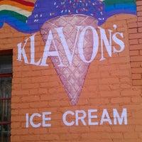 Photo taken at Klavon's Ice Cream Parlor by Erin M. on 8/19/2012