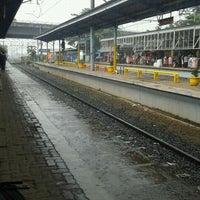 Photo taken at Stasiun Depok Baru by Maulida R. on 1/17/2012