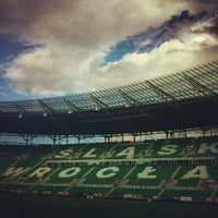 Photo taken at Stadion Wrocław by Mateo on 9/27/2012
