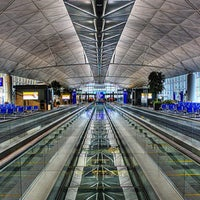 Photo taken at Hong Kong International Airport (HKG) by MES on 8/1/2013