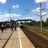 Photo taken at Bahnhof Elstal by Cornell P. on 6/1/2014