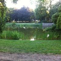 Photo taken at Schwanenteich by Cornell P. on 7/18/2014