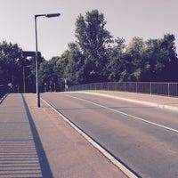 Photo taken at Mäckeritzbrücke by Cornell P. on 8/8/2015