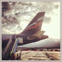 Photo taken at Pulkovo International Airport (LED) by Anton G. on 10/27/2013